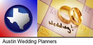 Austin, Texas - wedding day plans, with gold wedding rings