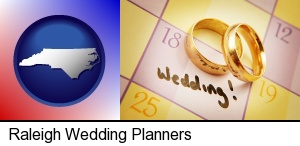 Raleigh, North Carolina - wedding day plans, with gold wedding rings