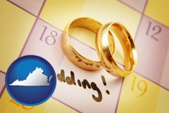 virginia wedding day plans, with gold wedding rings