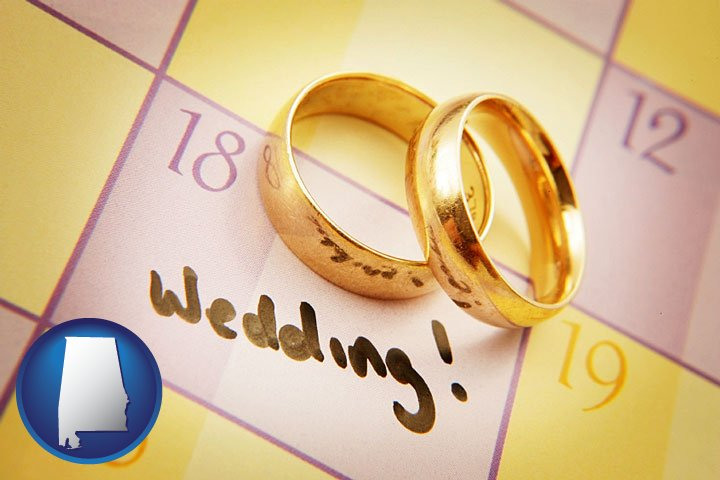 Wedding Day Plans With Gold Rings Alabama Icon