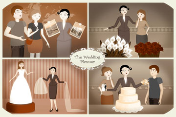 wedding planner concept illustration